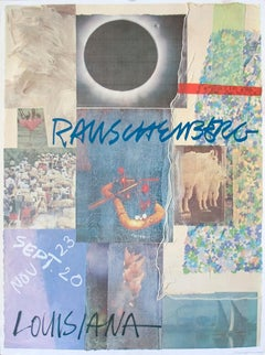 "Robert Rauschenberg-Louisiana-31"" x 23""-Poster-1981-Pop Art-Multicolor, Blue"
