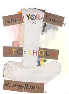 """Robert Rauschenberg-New York Collection for Stockholm-34.75"""" x 25.25""""-Poster"""