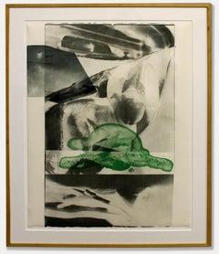 Robert Rauschenberg Original Important Provenance Gulf Nude Rare Green Black