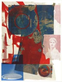 "Robert Rauschenberg-Quarry-34.5"" x 26""-Poster-1968-Pop Art-Multicolor-collage"
