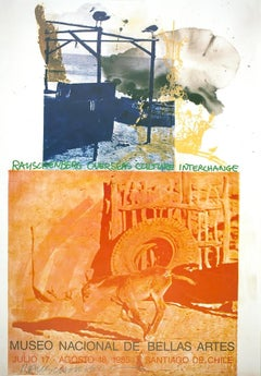 "Robert Rauschenberg, ""ROCI: Chile"" (1985), signed offset lithograph on paper"