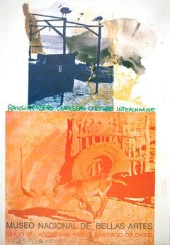 """Robert Rauschenberg-ROCI: Chile-34.5"""" x 24""""-Offset Lithograph-1985-Pop Art"""