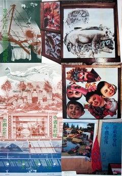 "Robert Rauschenberg-ROCI China, Bank of China-34.5"" x 24""-Poster-1985-Pop Art"
