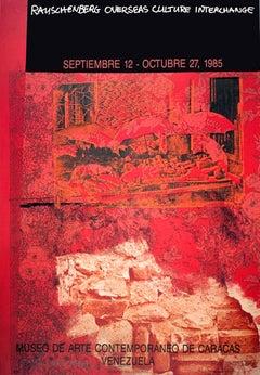 """Robert Rauschenberg-ROCI: Venezuela-34.5"""" x 24""""-Offset Lithograph-1985-Pop Art"""