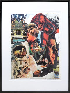 Robert Rauschenberg, Signs, screenprint in colours, signed, 1970