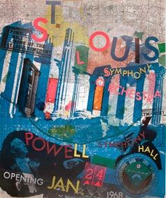 """Robert Rauschenberg-St. Louis Symphony Orchestra-34.75"""" x 24.25""""-Offset"""