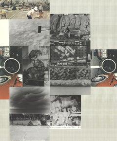 "Robert Rauschenberg-Untitled-32"" x 26.25""-Mixed Media-1984-Pop Art-Multicolor"
