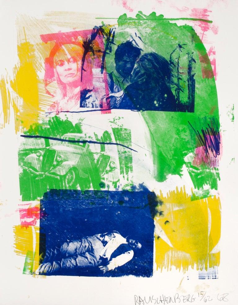 Robert Rauschenberg Figurative Print - Storyline I