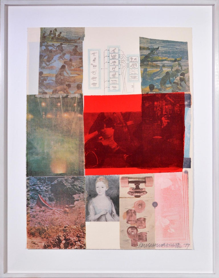 Robert Rauschenberg, Suite of Nine Prints, group of nine lithograph, signed, 197 For Sale 6