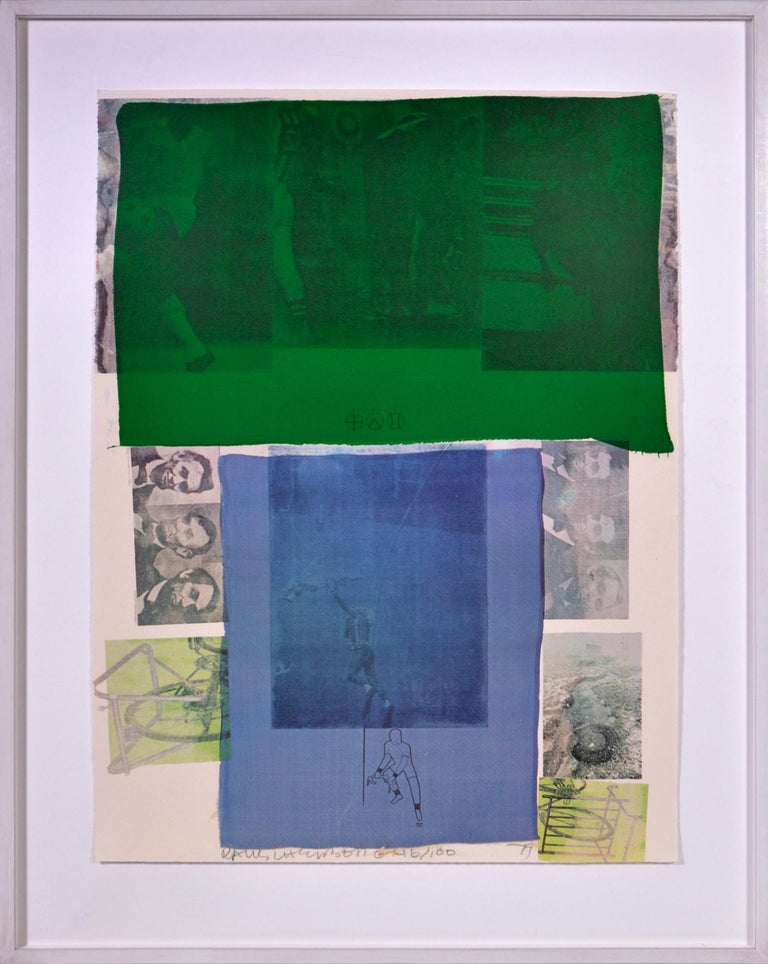 Robert Rauschenberg, Suite of Nine Prints, group of nine lithograph, signed, 197 - Gray Still-Life Print by Robert Rauschenberg