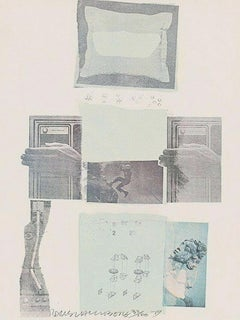 Two Reasons Birds Sing Limited Edition Lithograph & Collage Robert Rauschenberg