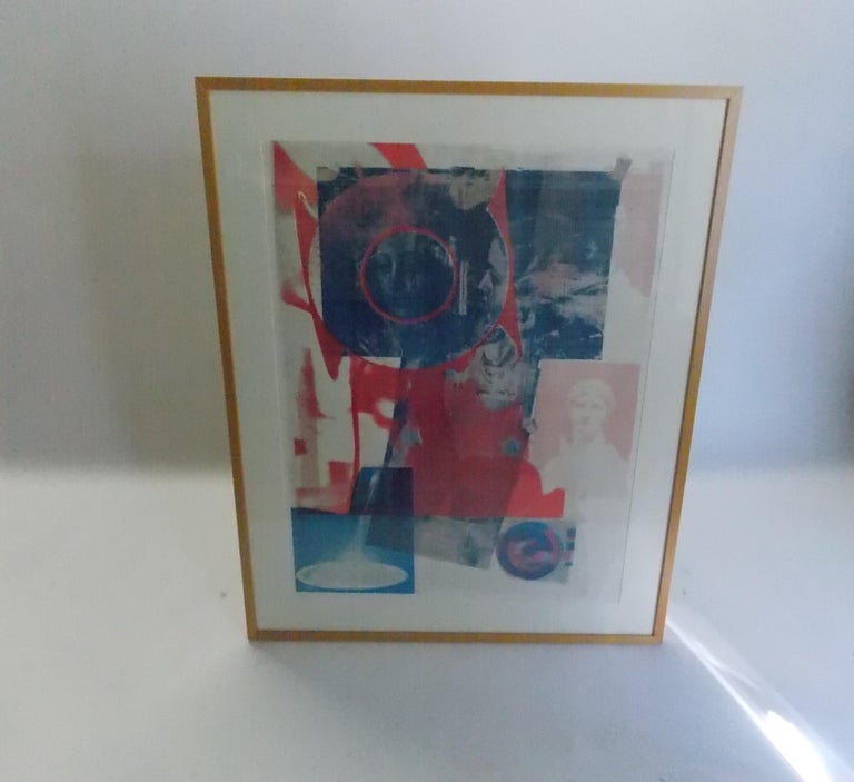 Rauschenberg color lithograph for Gemini, Gel. Signed and editioned Print size: 33 3/4