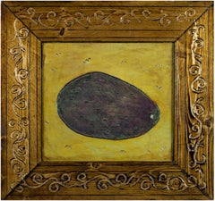 """""""Avocado,"""" Original Framed Still-life Oil signed on back by Robert Richter"""