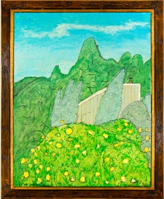 """Bodega House (California),"" Original Landscape Oil on Wood by Robert Richter"