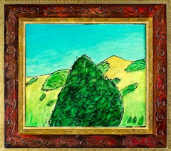 """Bodega Mountain"" Original Framed Oil Landscape signed on back by Robert Richter"