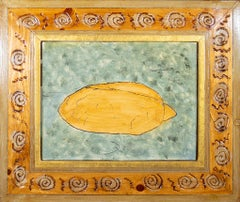 'Bread on Carpet' original oil on wood painting signed by Robert Richter