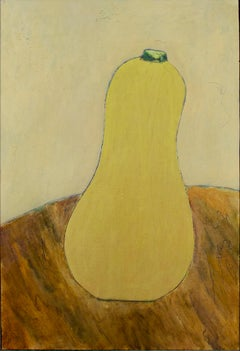 """""""Butter Squash,"""" tabletop still-life oil painting on wood by Robert Richter"""