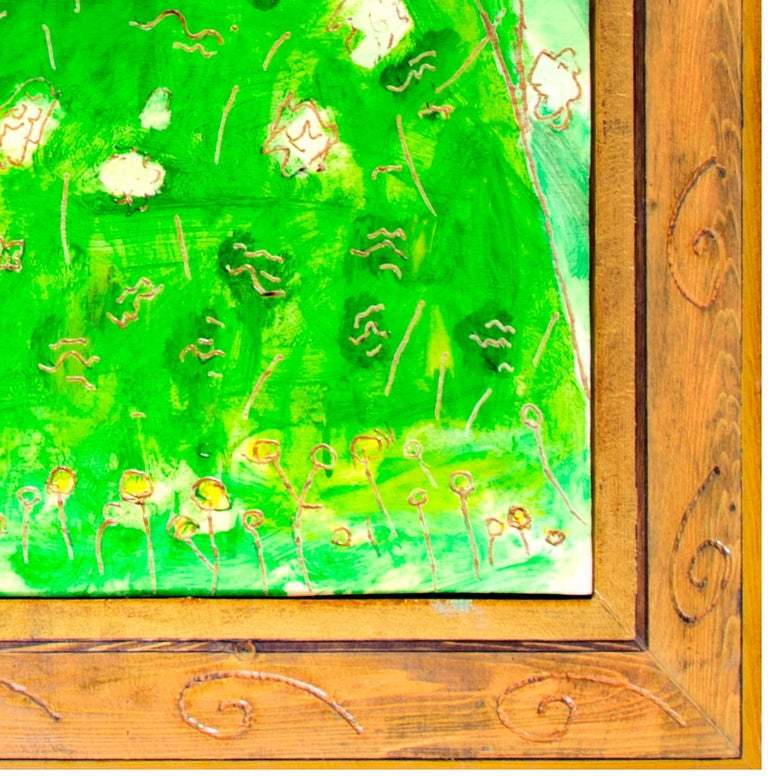 'Shore Bush' original oil on wood painting signed by Robert Richter For Sale 2