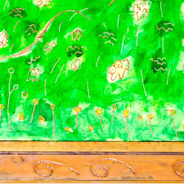 'Shore Bush' original oil on wood painting signed by Robert Richter For Sale 5