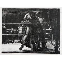 "Robert Riggs Original Lithograph, Boxing Subject ""Trial Horse"""