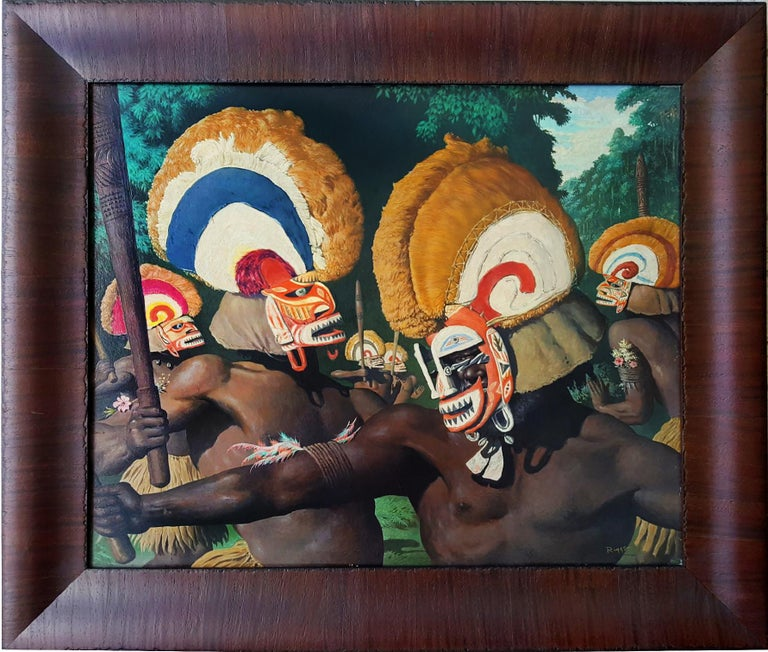 Tribesmen with Headdresses For Sale 3