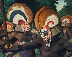Tribesmen with Headdresses