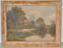Robert Robin Fenson English Country Landscape Oil Painting c.1909