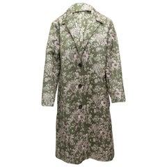 Robert Rodriguez Olive Green & Multicolor Jacquard Coat