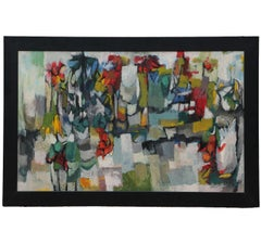 """Garden"" Cubist Abstract Landscape"