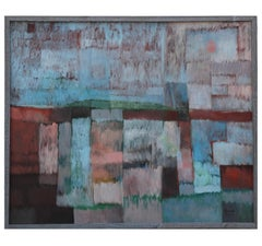 """Panhandle Fields"" Colorfield Cubist Abstract Painting"