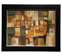 """""""Shapes of the City"""" Neural Tonal Cubist Abstract Landscape Painting"""