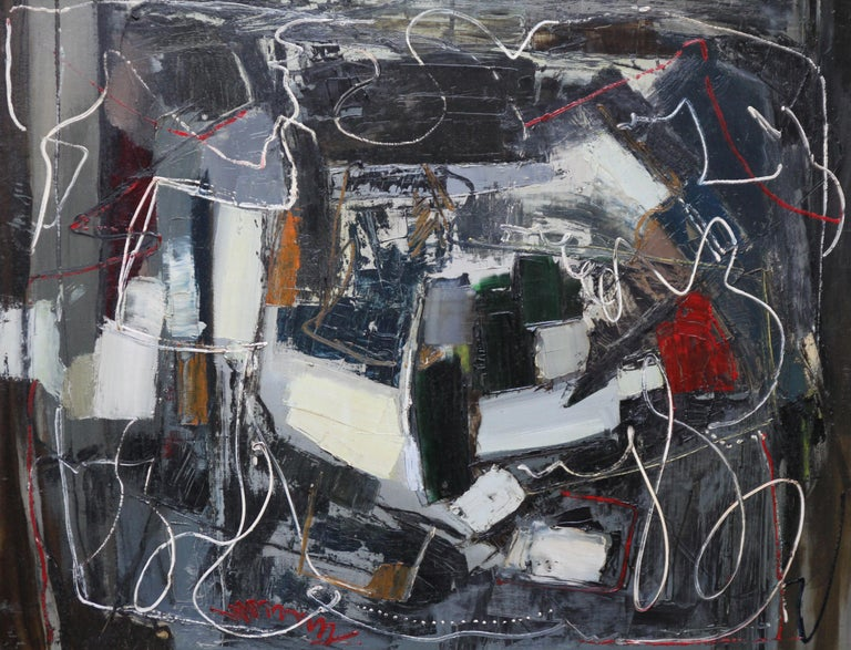 Winter 1 - British Abstract Expressionist art 1950's oil painting - Painting by Robert Sadler