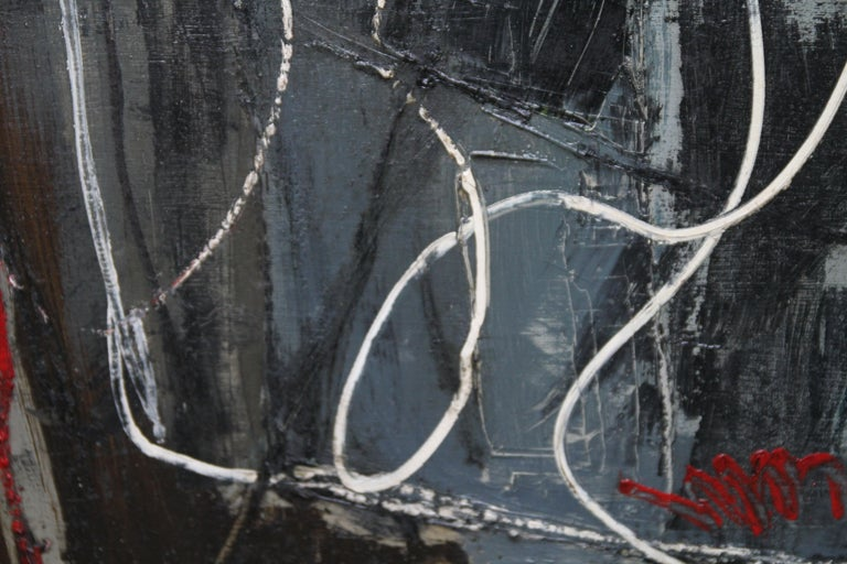 Winter 1 - British Abstract Expressionist art 1950's oil painting For Sale 3