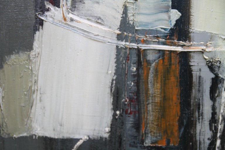 Winter 1 - British Abstract Expressionist art 1950's oil painting For Sale 4