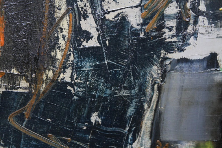 Winter 1 - British Abstract Expressionist art 1950's oil painting For Sale 5