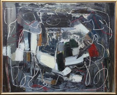 Winter 1 - British Abstract Expressionist art 1950's oil painting