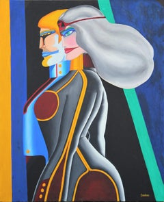 """Kal-El Leaves Krypton"" Colorful Abstract Modern Pop Art Superman Portrait"
