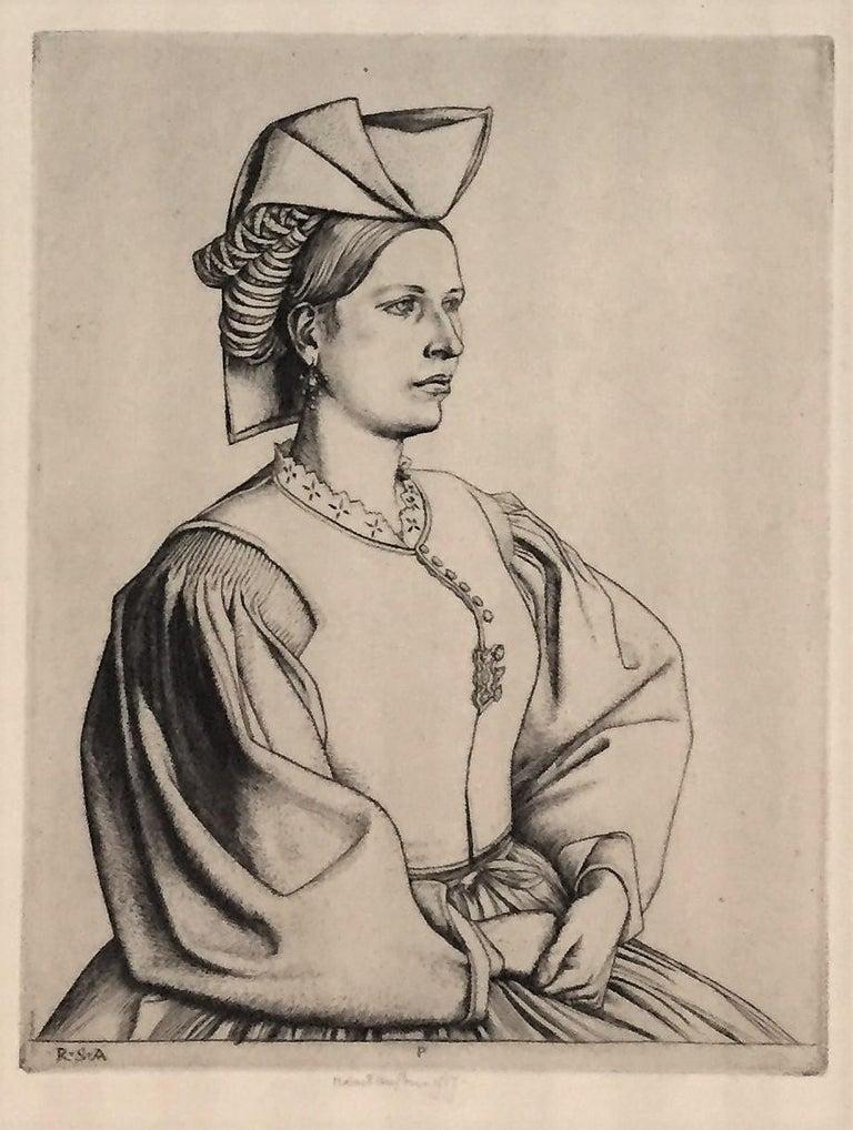 A Woman of Scanno.  - Modern Print by Robert Sargent Austin, R.A., P.R.E., P.R.W.S.