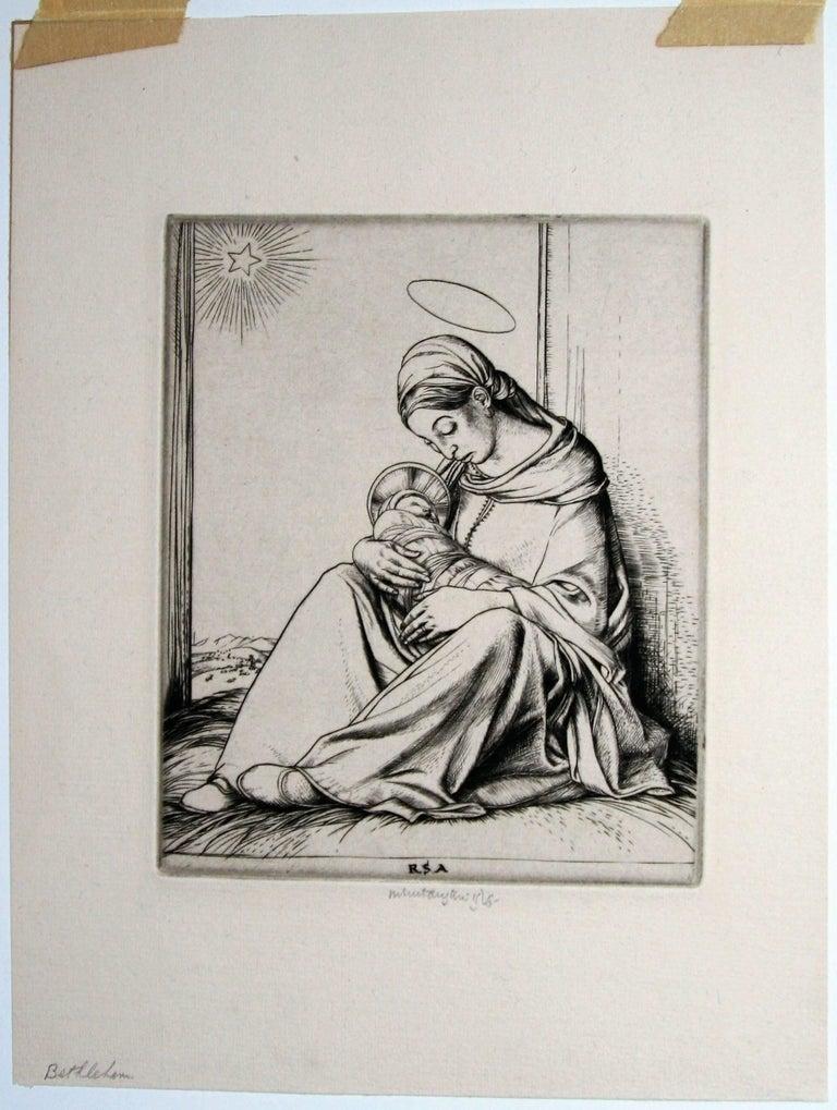 Bethlehem. - Print by Robert Sargent Austin, R.A., P.R.E., P.R.W.S.