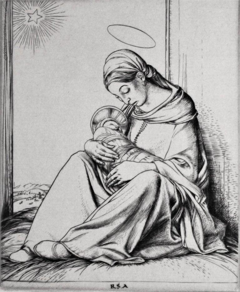 Robert Sargent Austin, R.A., P.R.E., P.R.W.S. Figurative Print - Bethlehem.