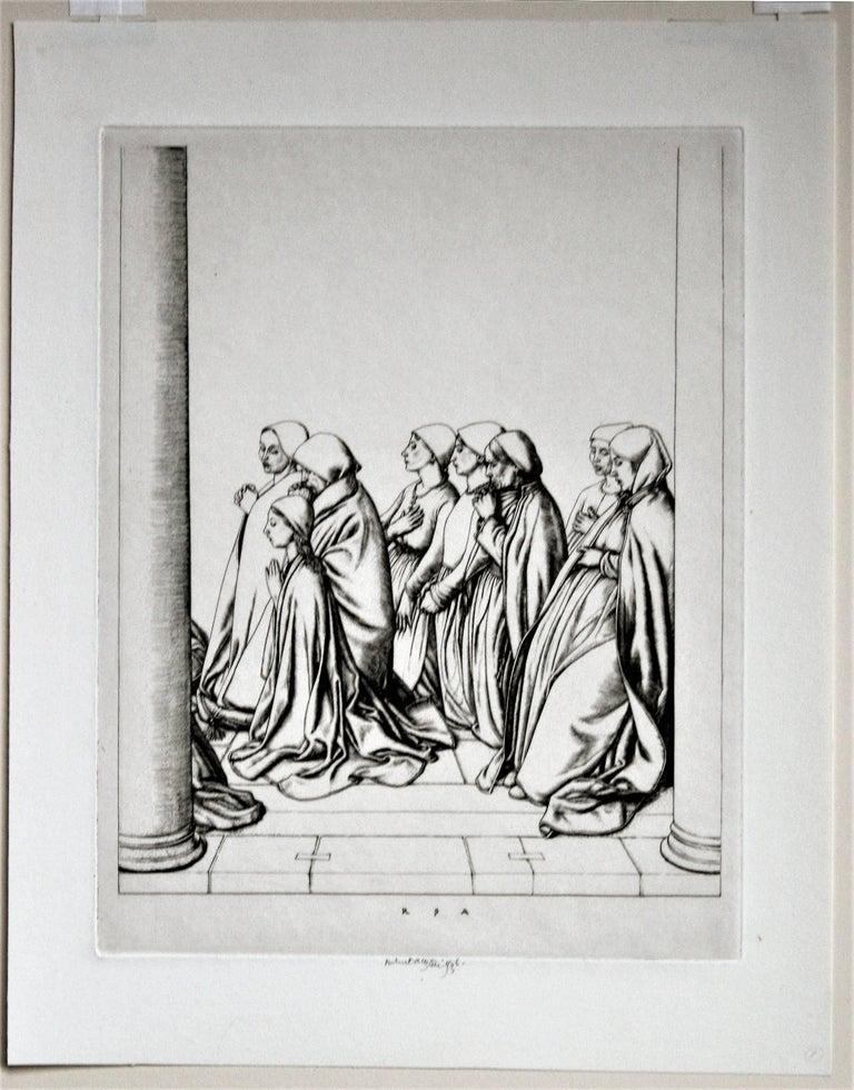 Women at Prayer - Print by Robert Sargent Austin, R.A., P.R.E., P.R.W.S.