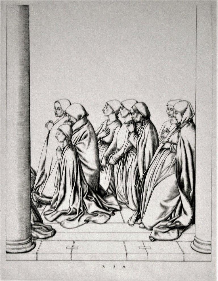 Robert Sargent Austin, R.A., P.R.E., P.R.W.S. Figurative Print - Women at Prayer