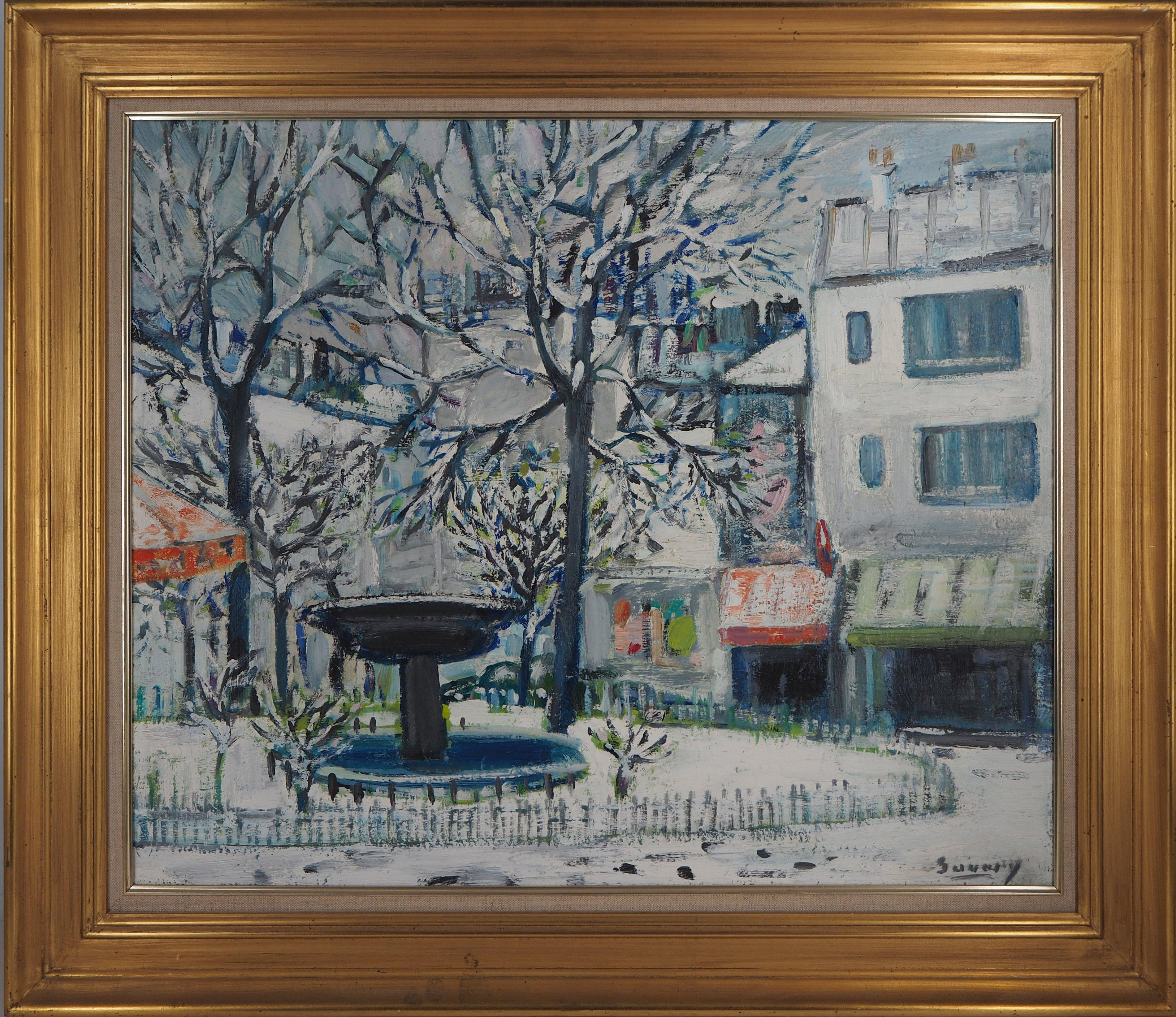 Paris : Pigalle Square - Original oil on canvas, signed