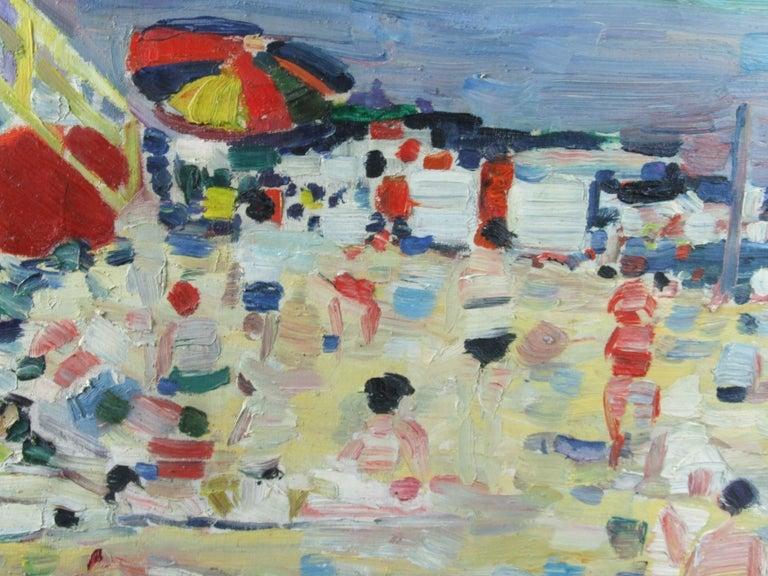Plage - Beach - Post-Impressionist Painting by Robert Savary