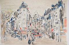 Paris : On the Way to Montmartre - Original Lithograph, Handsigned