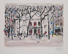 Paris : Theatre de l'Atelier in Montmartre - Original Lithograph, Handsigned