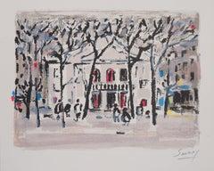 Paris : Theatre de l'Atelier in Montmartre - Original Lithograph, Handsigned