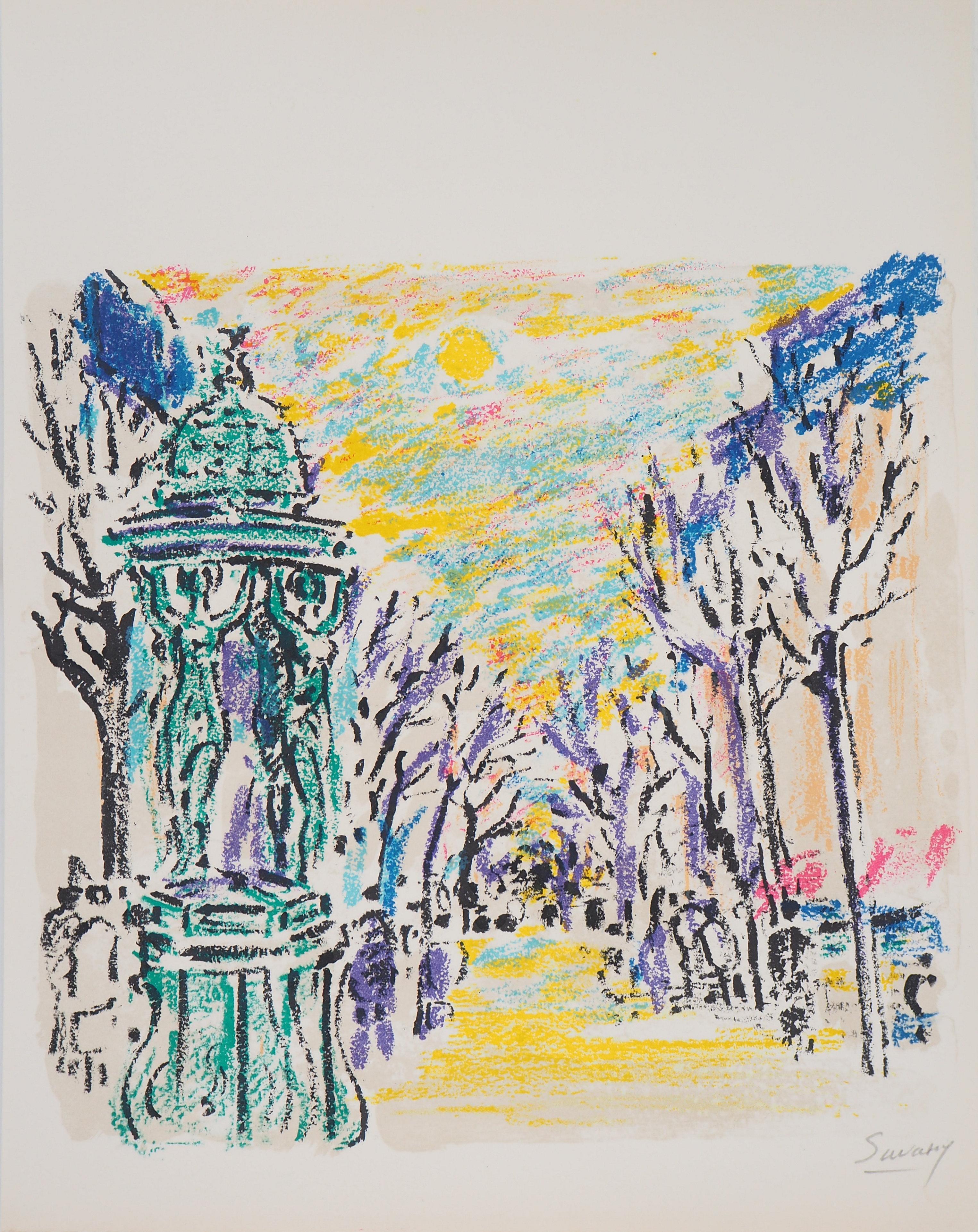 Paris : Wallace Fountain - Original Lithograph, Handsigned