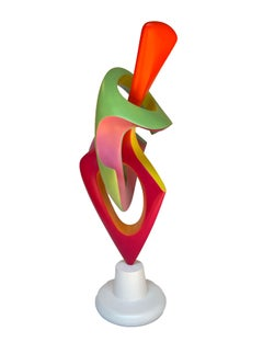 Apocalypse- Abstract Sculpture, Brightly Colored Geometric Intertwined Form