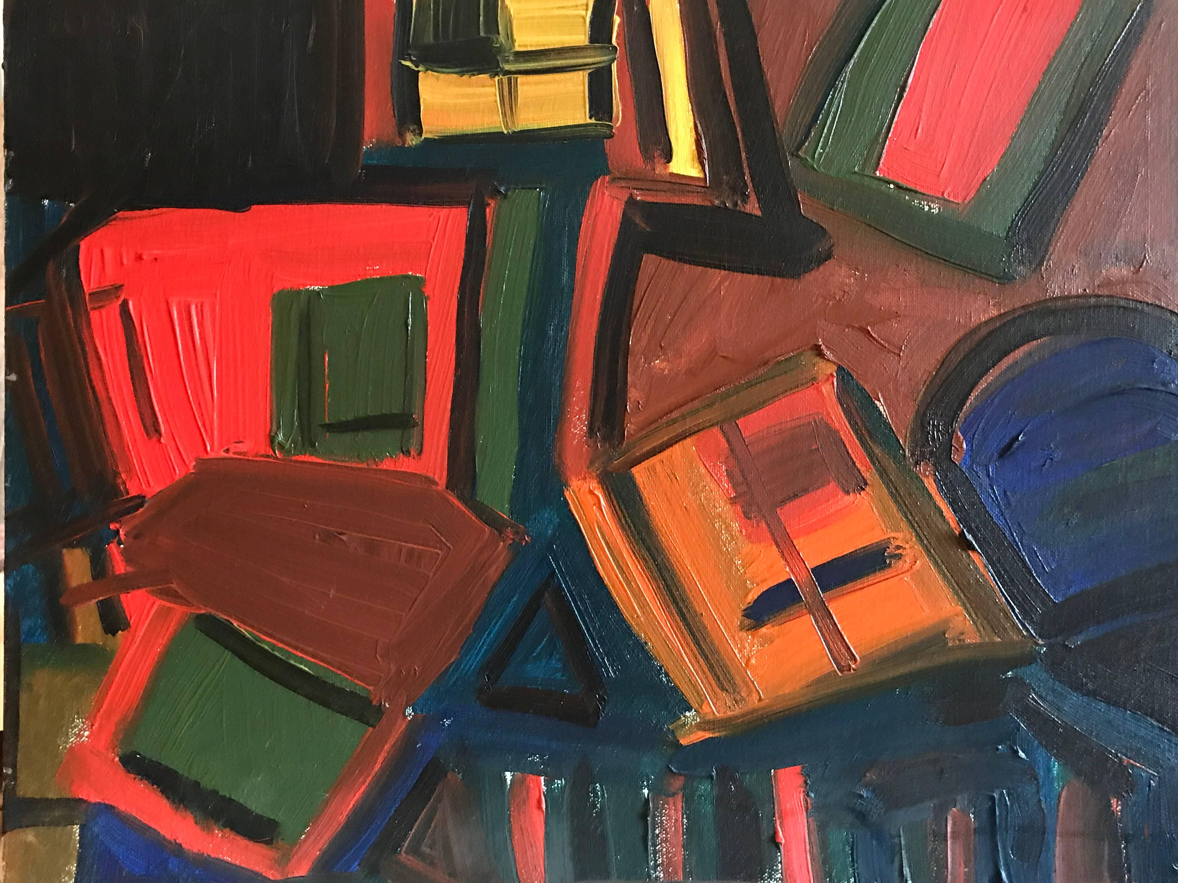 Stunning British Abstract Original Painting Signed